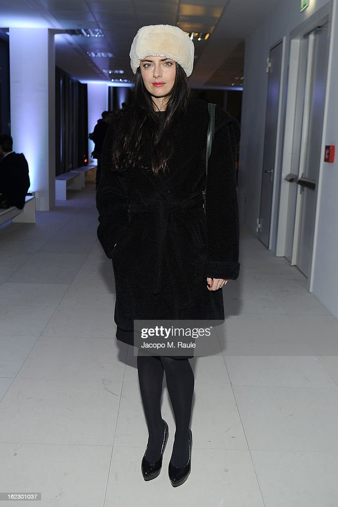 Lucilla Beccaria attends the Sergio Rossi presentation cocktail during Milan Fashion Week Womenswear Fall/Winter 2013/14 on February 21, 2013 in Milan, Italy.