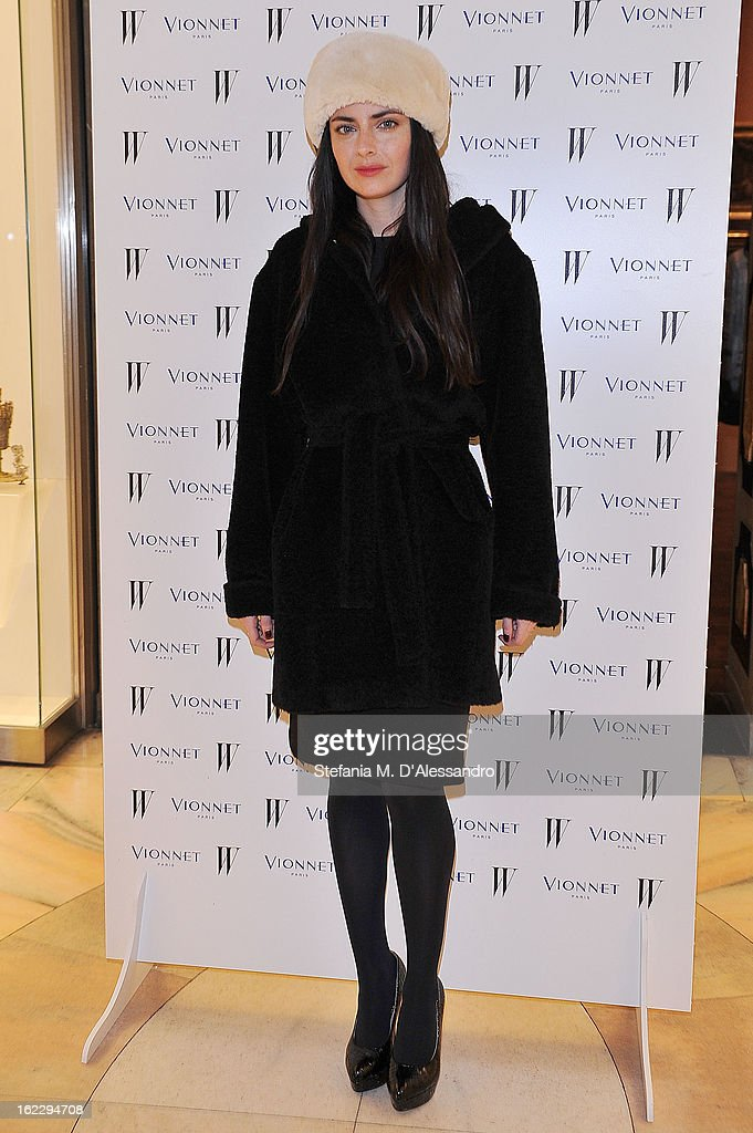 Lucilla Beccaria attends W And Vionnet Hosts The Thayaht Exhibition on February 21, 2013 in Milan, Italy.