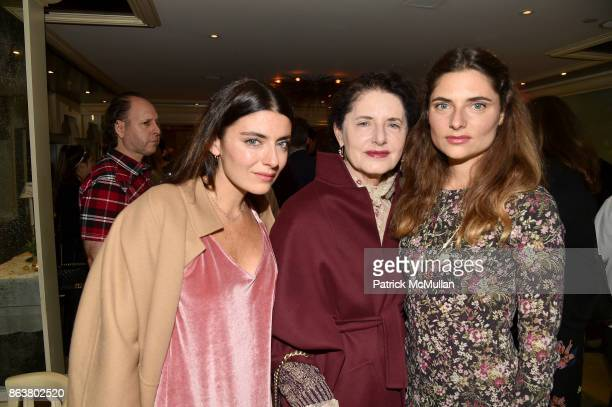 Lucilla Bonaccorsi Luisa Beccaria amd Lucrezia Bonaccorsi attend the launch of Second Bloom Cathy Graham's Art of the Table hosted by Joanna Coles...