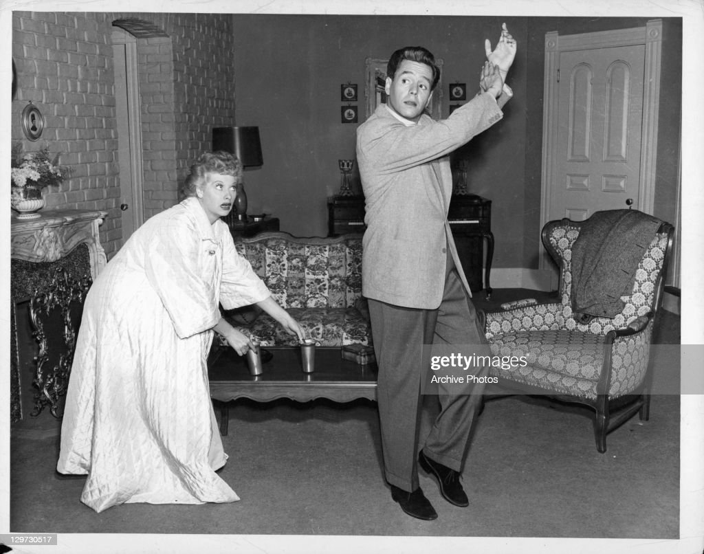 Lucille Ball And Desi Arnaz In Their Living Room Set On The Television  Series U0027I Part 96