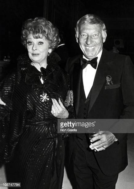 Lucille Ball and Gary Morton during Friar's Club Tribute to Dean Martin at Waldorf Astoria Hotel in New York City New York United States