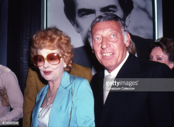 Lucille Ball and her husband Gary Morton attend an event in August 1980 in Los Angeles California