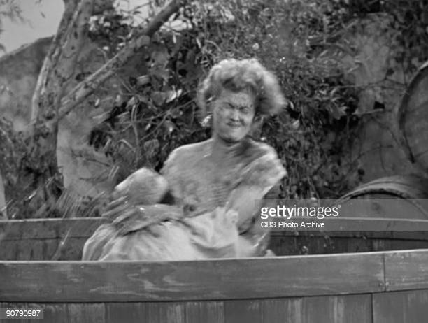 LUCY Lucille Ball as Lucy Ricardo and Teresa Tirelli as Wine Stomper in 'Lucy's Italian Movie' Original airdate April 16 1956 Season 5 episode 23...