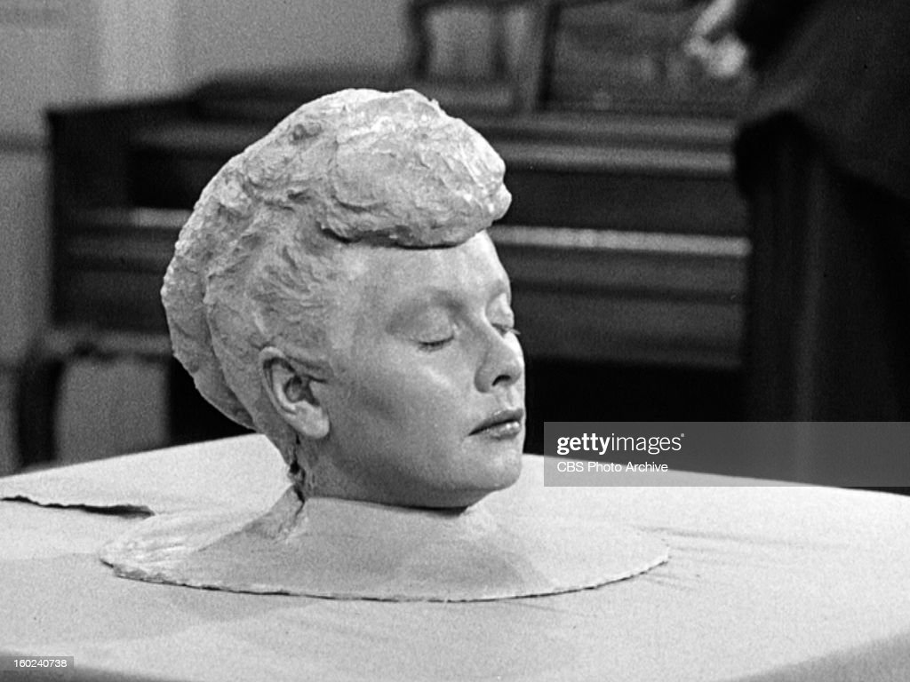 Lucille Ball as Lucy Ricardo in the I LOVE LUCY episode, 'Lucy Becomes a Sculptress.' Season 2, episode 15. Original air date, January 12, 1953. Image is a screen grab.