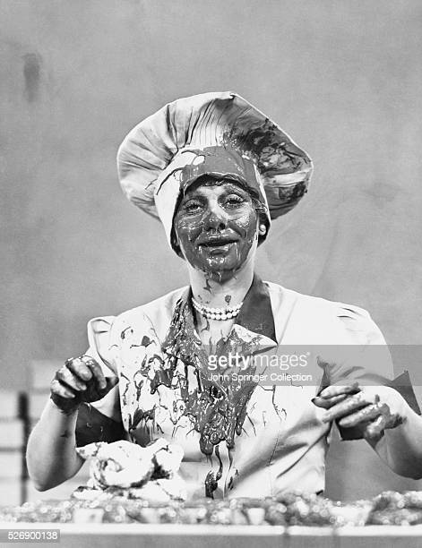Lucille Ball Covered with Chocolate in I Love Lucy