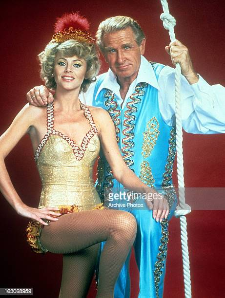 Lucinda Bridges and Lloyd Bridges in publicity portrait for the television film 'The Great Wallendas' 1978