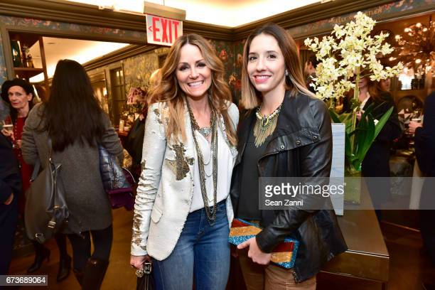 Lucinda Loya and Jessica Johnson attend the Marble Accessories Debut by Designer Spiros Soulis on the Seventh Floor at Bergdorf Goodman on April 26...