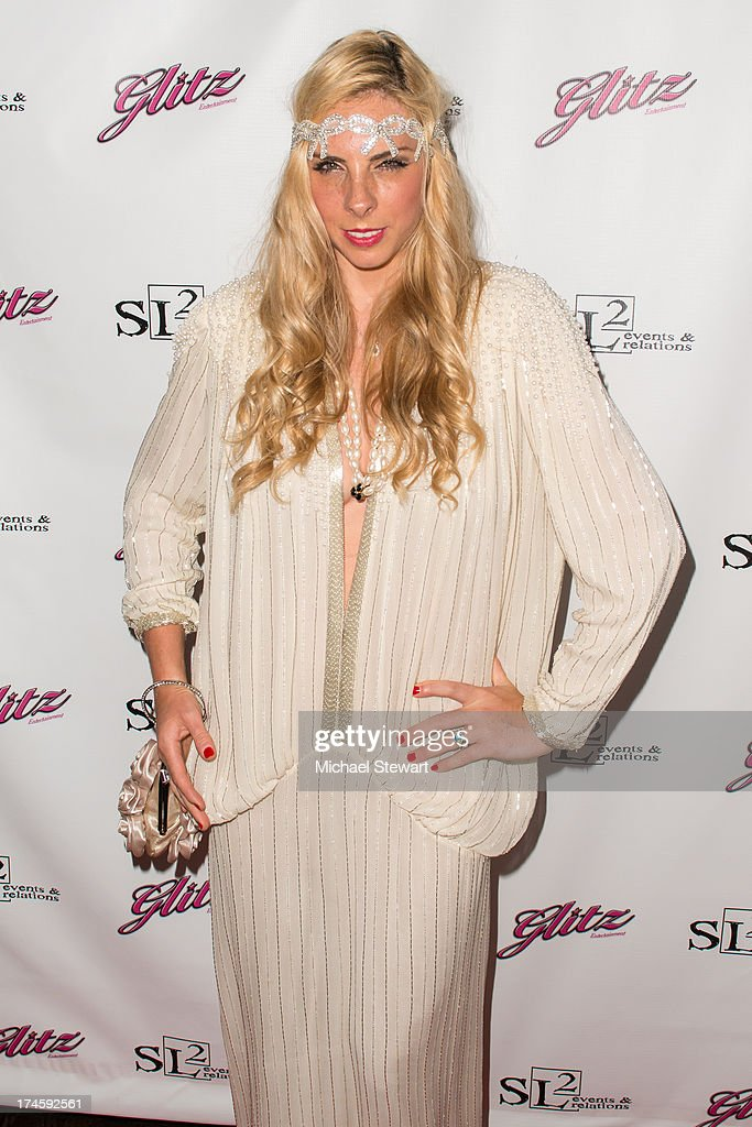 Lucinda Ruh attends Johnny Weir & Victor Weir-Voronov's Birthday Celebration at Soho Grand Hotel on July 27, 2013 in New York City.