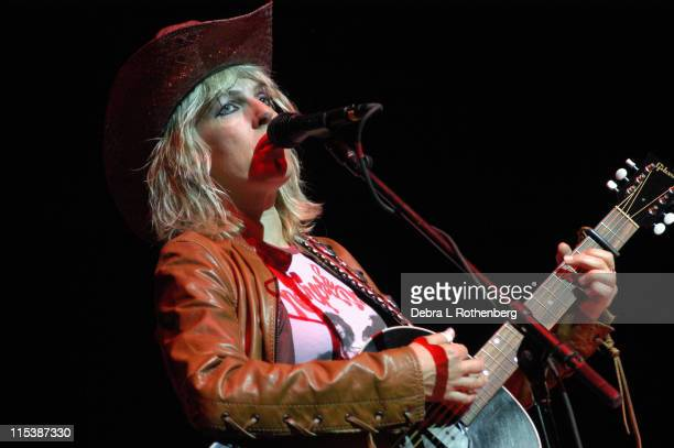 Lucinda Williams during Lucinda Wiliams In Concert October 2 2003 at Beacon Theater in New York City New York United States