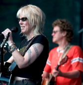 Lucinda Williams during Lucinda Williams in Concert at the Santa Barbara Bowl May 1 2004 at Santa Barbara CA in Santa Barbara California United States
