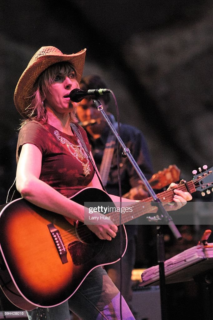 Lucinda Williams is performing with her band at Red Rocks Amphitheatre in Morrison Colorado on July 30 2003