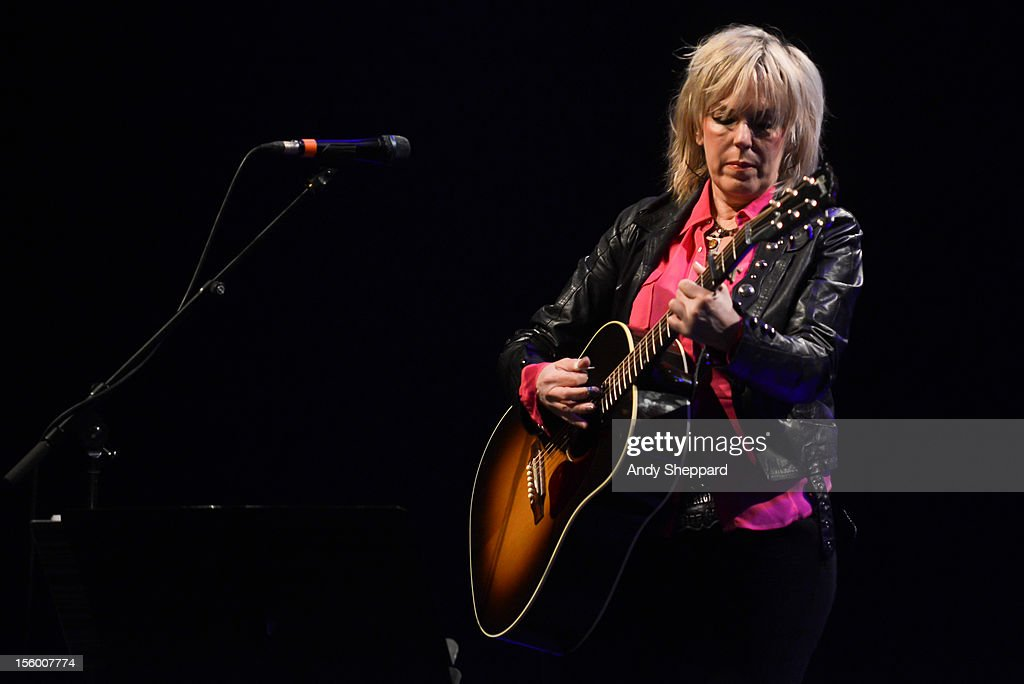 <a gi-track='captionPersonalityLinkClicked' href=/galleries/search?phrase=Lucinda+Williams&family=editorial&specificpeople=1321669 ng-click='$event.stopPropagation()'>Lucinda Williams</a> performs at Royal Festival Hall during the London Jazz Festival 2012 on November 10, 2012 in London, United Kingdom.