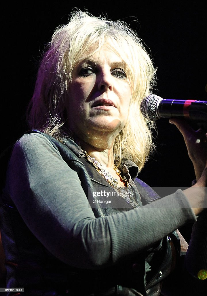 Lucinda Williams performs during the San Francisco PETTY FEST at The Fillmore on February 27, 2013 in San Francisco, California.