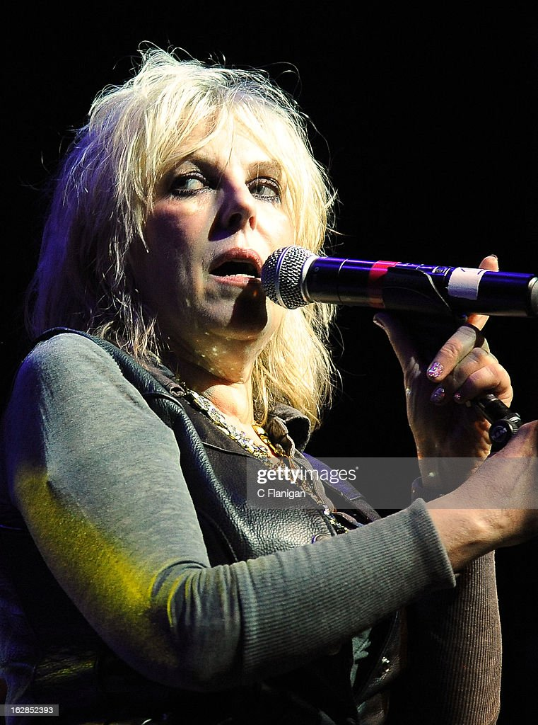 <a gi-track='captionPersonalityLinkClicked' href=/galleries/search?phrase=Lucinda+Williams&family=editorial&specificpeople=1321669 ng-click='$event.stopPropagation()'>Lucinda Williams</a> performs during the San Francisco PETTY FEST at The Fillmore on February 27, 2013 in San Francisco, California.