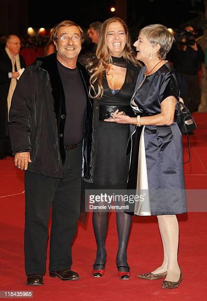 Lucio Dalla Diana and Iliana de Curtis attend the 'Un Principe Chiamato Toto' premiere during Day 6 of the 2nd Rome Film Festival on October 23 2007...