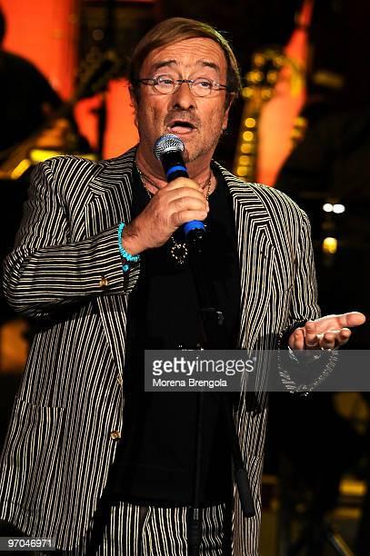 Lucio Dalla during the Italian tv show 'Che tempo che fa' on March 28 2009 in Milan Italy