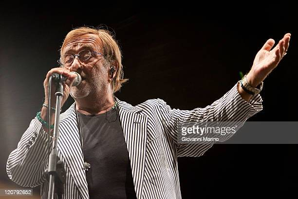 Lucio Dalla performs with the Symphonic Orchestra 'Ciaikowsky' conducted by Leonardo Quadrini on August 9 2011 in Potenza Italy