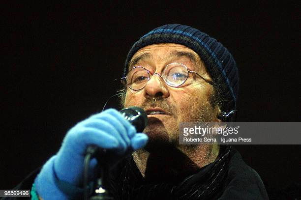 Lucio Dalla plays the New Year Concert on December 31 2009 in Bologna Italy