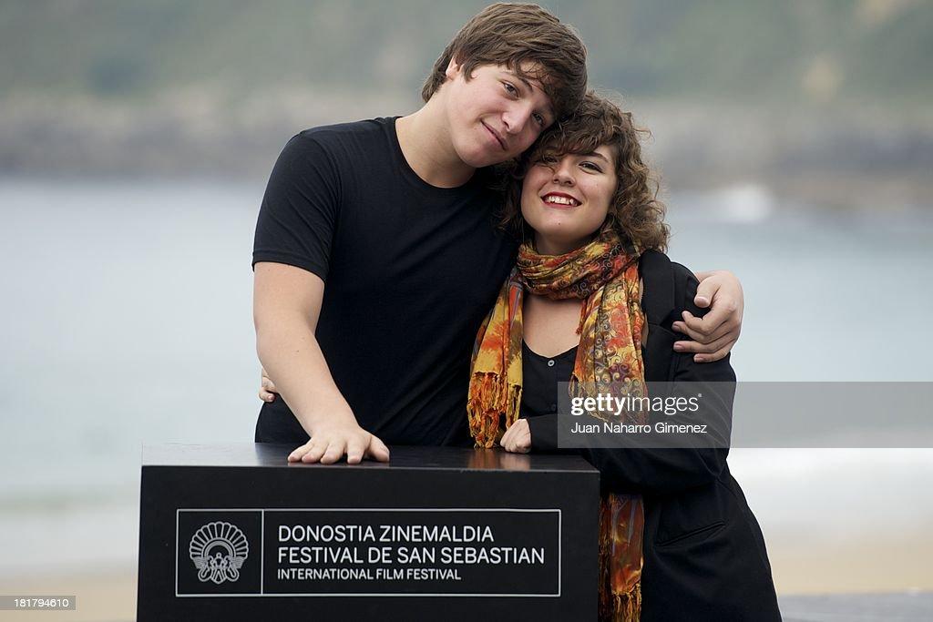 Lucio Gimenez and Danae Reynaud attend the 'Club Sandwich' photocall at Kursaal during 61st San Sebastian International Film Festival on September 25, 2013 in San Sebastian, Spain.