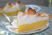 A fabulous Iowa farm cook baked this tempting lemon meringue pie, which is her signature dessert.