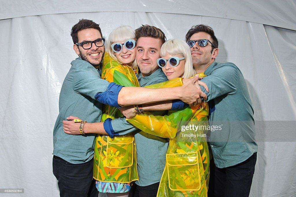 Lucius poses for a portrait session at Lollapalooza 2014 at Grant Park on August 1, 2014 in Chicago, Illinois.