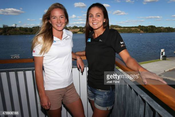 Luck Strack and Julia Edward pose after being selected for the U23 women's lightweight double sculls at the Rowing New Zealand Team Selection...