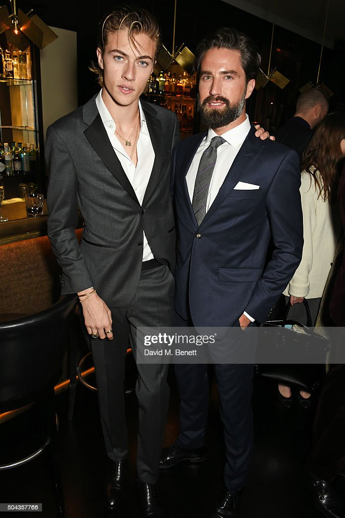 Lucky Blue Smith and Jack Guinness attend a private dinner hosted by Tommy Hilfiger and Dylan Jones to celebrate London Collections Men AW16 at...
