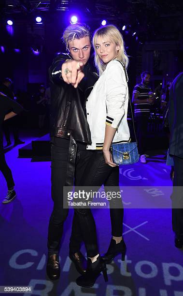 Lucky Blue Smith and Pyper America Smith at the MCM x Christopher Raeburn SS17 show at Grand Connaught Rooms on June 11 2016 in London England
