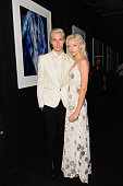 Lucky Blue Smith and Pyper America Smith attend a private viewing and dinner for Art For Love 32 Photographers Interpret The Iconic Moncler Maya...