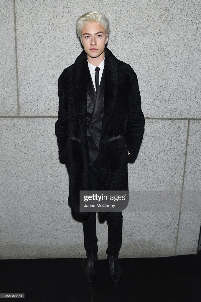 Lucky Blue Smith attends the 2015 amfAR New York Gala at Cipriani Wall Street on February 11, 2015 in New York City.