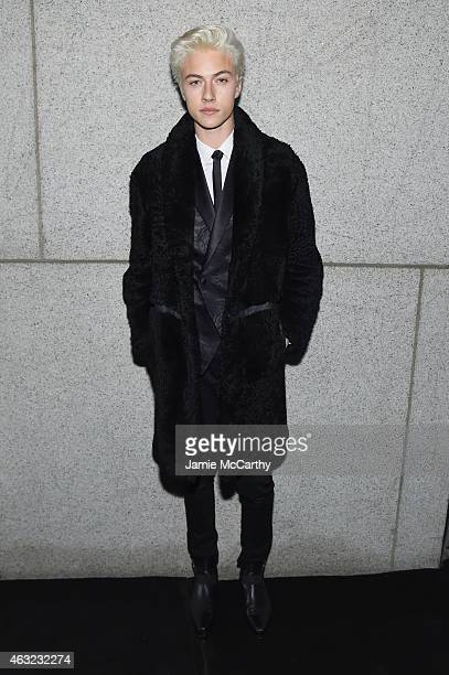 Lucky Blue Smith attends the 2015 amfAR New York Gala at Cipriani Wall Street on February 11 2015 in New York City