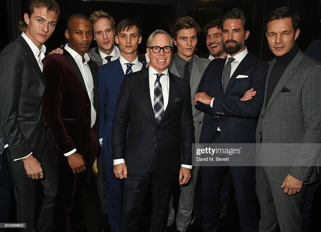 Lucky Blue Smith Eric Underwood Jack Fox Josh Ludlow Tommy Hilfiger Oliver Cheshire Robert Konjic Jack Guinness and Paul Sculfor attend a private...