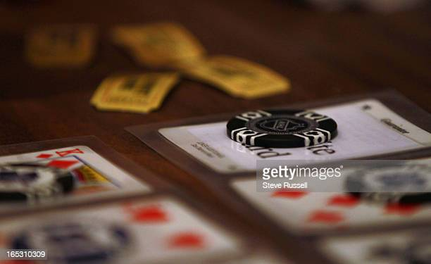 Lucky chips or coins are used to cover their card until the number is and the tickets to redeem for porketta are banked at Porketta Bingo at the Beef...