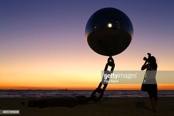 'Lucky Country' by artist Norton Flavel is seen at Sculpture By The Sea at Cottesloe Beach on March 5 2015 in Perth Australia