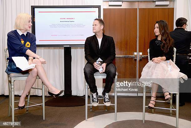 Lucky Executive Digital Editor Verena von Pfetten Vice President of Marketing for 7 For All Mankind Andy Griffiths and Wendy Nguyen of Wendy's...