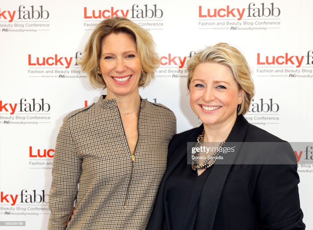 Lucky Magazine Editor in Chief <a gi-track='captionPersonalityLinkClicked' href=/galleries/search?phrase=Brandon+Holley&family=editorial&specificpeople=753368 ng-click='$event.stopPropagation()'>Brandon Holley</a> and Publisher Gillian Gorman attend the first-ever Lucky Magazine two day FABB West at SLS Hotel on April 4, 2013 in Beverly Hills, California.