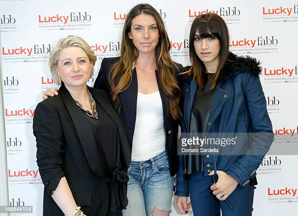 Lucky Magazine Publisher Gillian Gorman Alle Fister and Mandana Dayani attend the firstever Lucky Magazine two day FABB West at SLS Hotel on April 4...