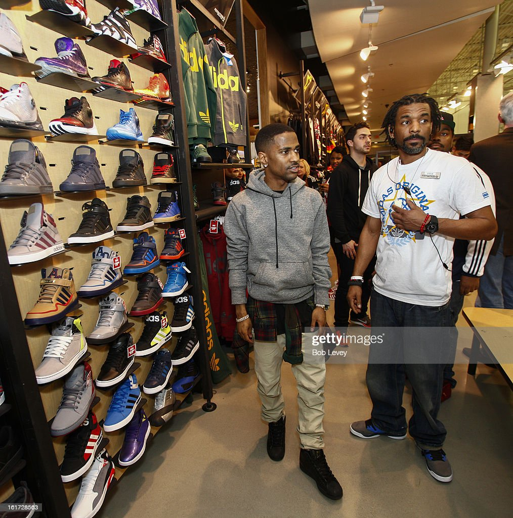 A lucky selection of VIP's were chosen to attend the grand opening of a brand new retail experience - adidas Originals Collective by Footaction, in the Willowbrook Mall, February 14, 2013 in Houston, TX. Special guests like <a gi-track='captionPersonalityLinkClicked' href=/galleries/search?phrase=Big+Sean&family=editorial&specificpeople=4449582 ng-click='$event.stopPropagation()'>Big Sean</a> and DMC helped celebrate while DJ Clark Kent delivered excellent beats.