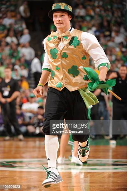 Lucky the Boston Celtics mascot in Game Three of the 2010 NBA Finals on June 8 2010 at TD Garden in Boston Massachusetts NOTE TO USER User expressly...