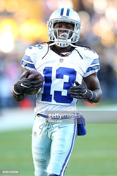 Lucky Whitehead of the Dallas Cowboys looks on before the game against the Pittsburgh Steelers at Heinz Field on November 13 2016 in Pittsburgh...