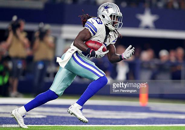 Lucky Whitehead of the Dallas Cowboys runs during a game between the Dallas Cowboys and the Philadelphia Eagles at ATT Stadium on October 30 2016 in...