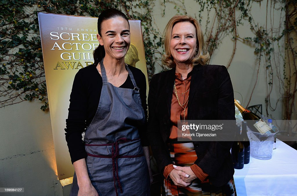 Lucques chef Suzanne Goin and Actors Guild Awards Committee Chair JoBeth Williams during food and wine tasting event in preperation for the 19th annual SAG Awards at Lucques Restaurant on January 16, 2013 in Los Angeles, California. The 19th Annual Screen Actor Guild Awards will be held at the Shrine Auditorium in Los Angeles on January 27.