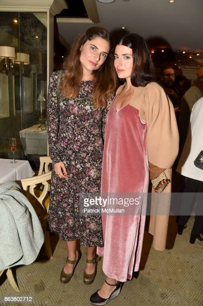 Lucrezia Bonaccorsi and Lucilla Bonaccorsi attend the launch of Second Bloom Cathy Graham's Art of the Table hosted by Joanna Coles and Clinton Smith...