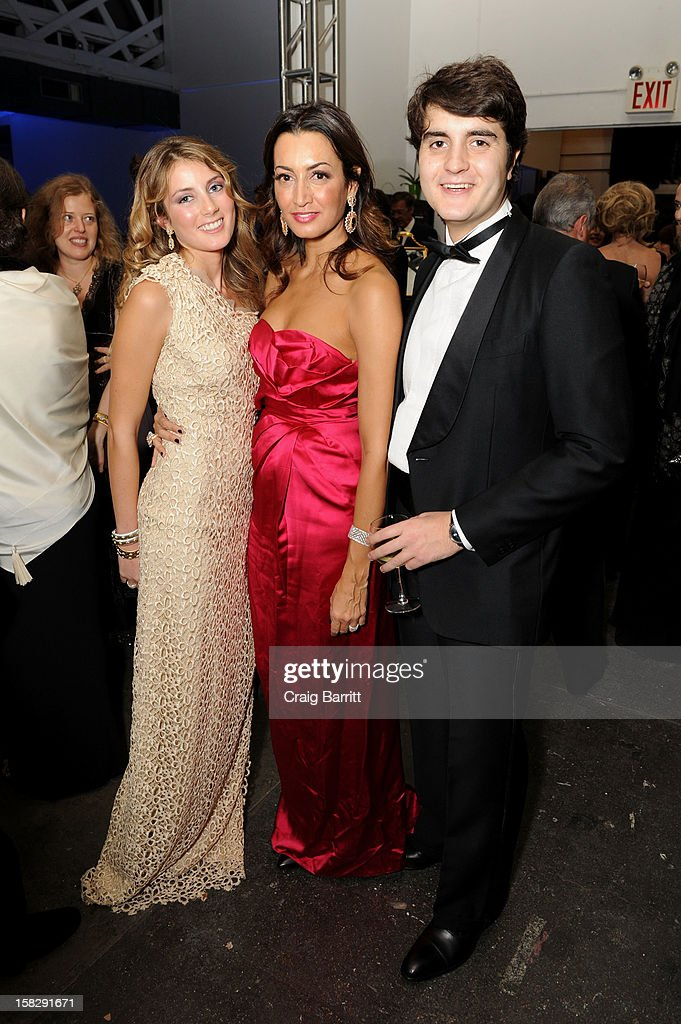 Lucrezia Buccellati, Maria Buccellati and Gianmaria Buccillati attend the TPC for the 2012 La Fondazione La Notte Gala Celebrating 60 years Of Excellence In the USA For Buccellati at Industria Studios on December 12, 2012 in New York City.