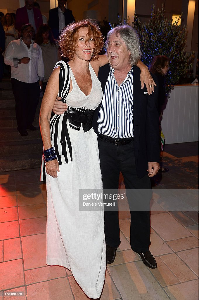Lucrezia Lante Della Rovere and Enrico Vanzina attend Day 2 of the 2013 Ischia Global Fest on July 14, 2013 in Ischia, Italy.
