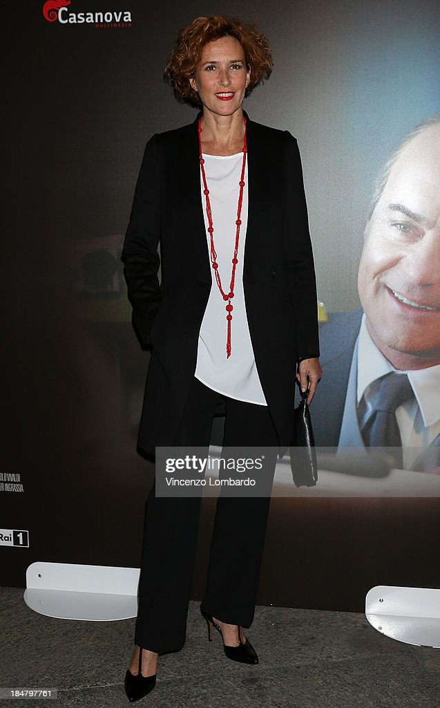 Lucrezia Lante Della Rovere attends the preview of film 'Adriano Olivetti. La forza di un sogno' on October 16, 2013 in Milan, Italy.