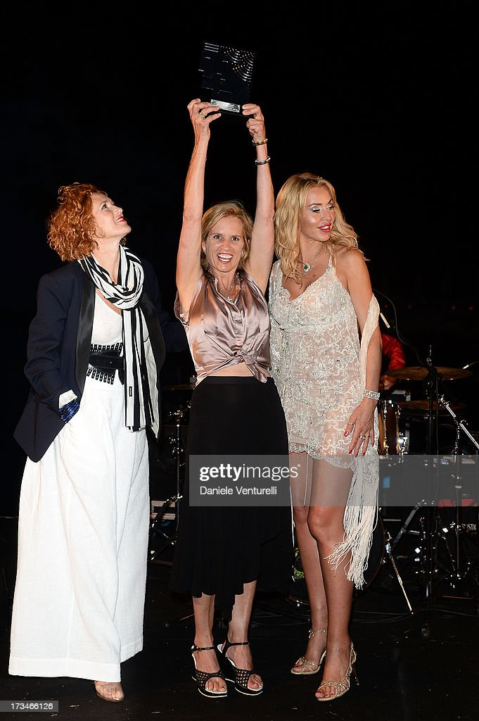 Lucrezia Lante Della Rovere, Kerry Kennedy and Valeria Marini attend Day 2 of the 2013 Ischia Global Fest on July 14, 2013 in Ischia, Italy.
