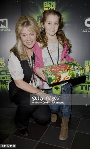 Lucy Alexander arrives for the premiere of 'Ben 10 Race Against Time' at the Vue in Leicester Square London