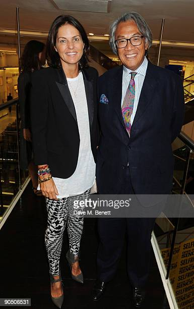 Lucy and David Tang attend the launch of Tom Parker Bowles' new book 'Full English' at Selfridges on September 9 2009 in London England