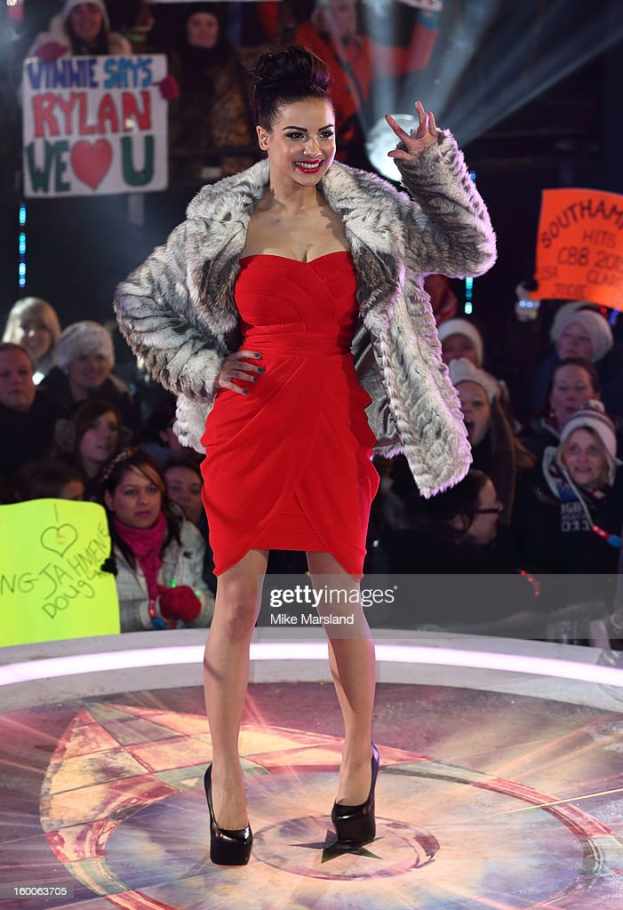 Lucy Banghard attends the final at the Celebrity Big Brother House at Elstree Studios on January 25, 2013 in Borehamwood, England.